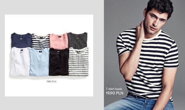 Koszulki z kolekcji H&M. Cena: 19,90 zł