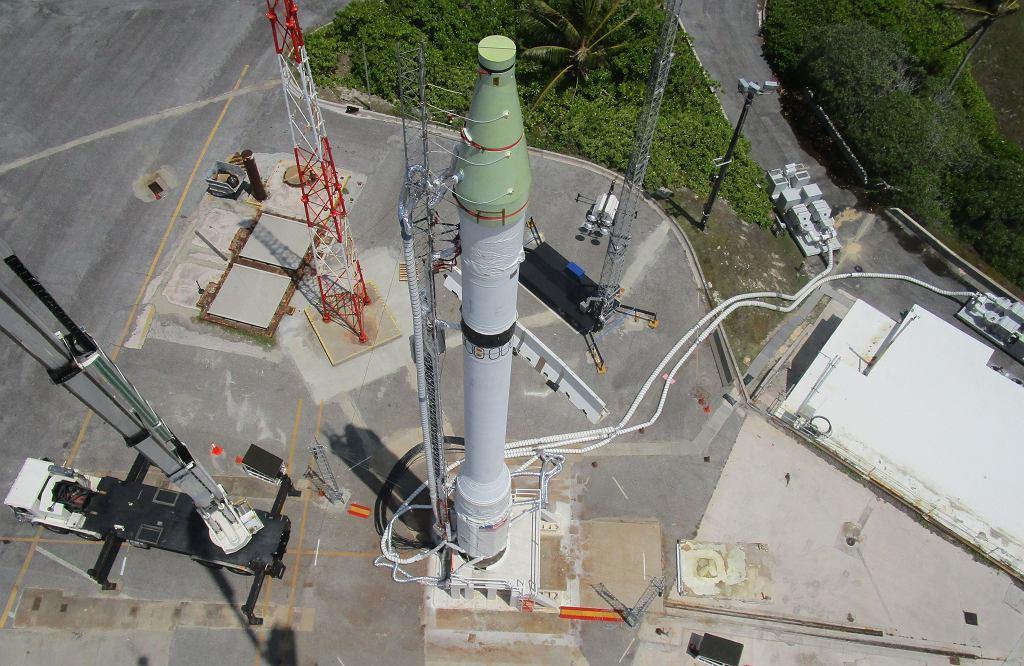 Pocisk testowy klasy ICBM wystrzelony w ramach testów amerykańskiego systemu obrony przeciwrakietowej GMD
