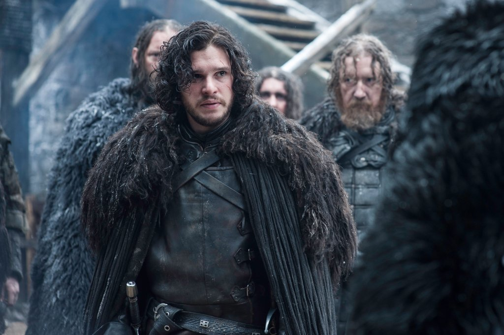 Kit Harington jako Jon Snow w serialu 'Gra o tron'