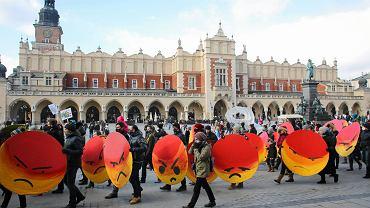 Manifestacja antysmogowa w Krakowie