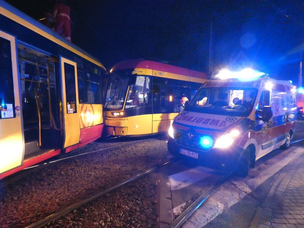 Zderzenie tramwajów na Woli
