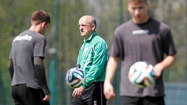 Piotr Piekarczyk na treningu GKS-u Katowice