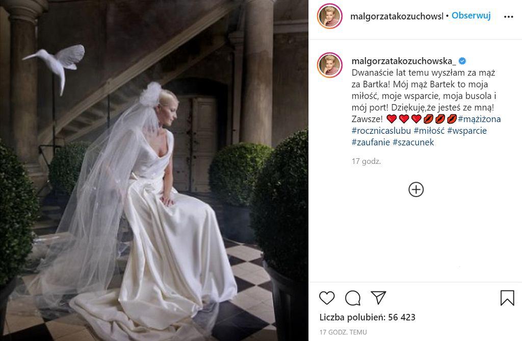 Małgorzata Kożuchowska pokazała niepublikowane zdjęcia ze swojego ślubu