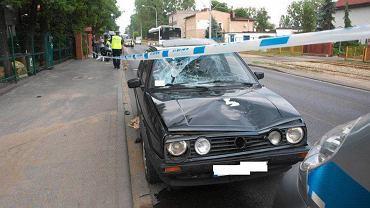 Rozbity samochód sprawcy wypadku