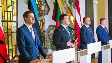 Wizyta premiera Mateusza Morawieckiego w Wilnie, 9 marca 2018.