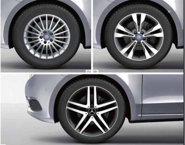 Mercedes klasa V felgi