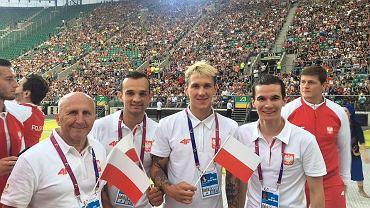Żużlowa reprezentacja Polski na World Games: Marek Cieślak (trener), Bartosz Zmarzlik, Maciej Janowski, Patryk Dudek