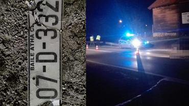 Policja poszukuje czarnego samochodu na irlandzkich numerach rejestracyjnych
