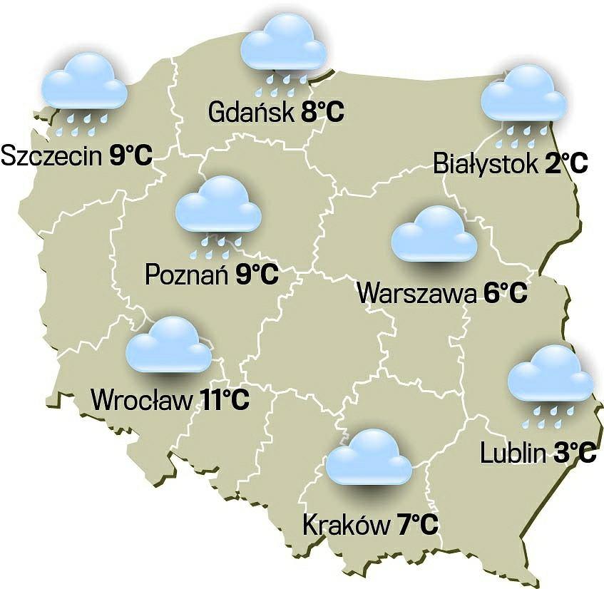 Pogoda w piątek 7 grudnia 2018 r. Będzie jesiennie