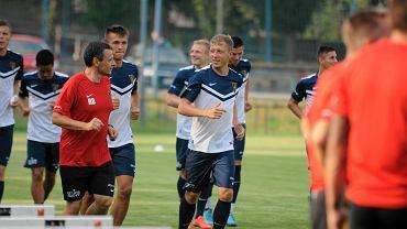 Rafał Buryta (w czerwonej koszulce)