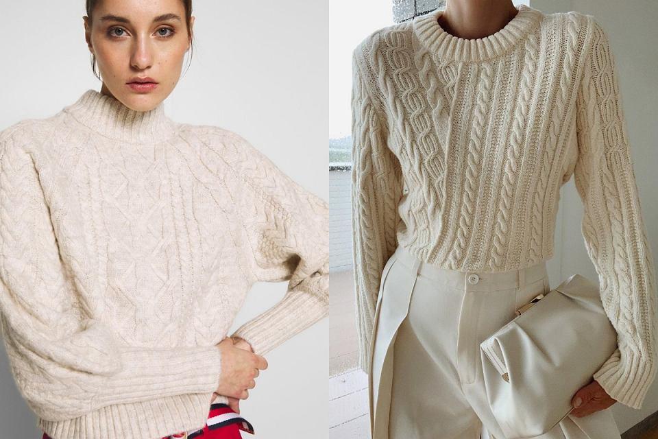 Swetry z grubym splotem z wyprzedaży