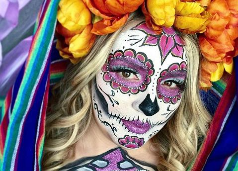 Makijaż sugar skull na Halloween
