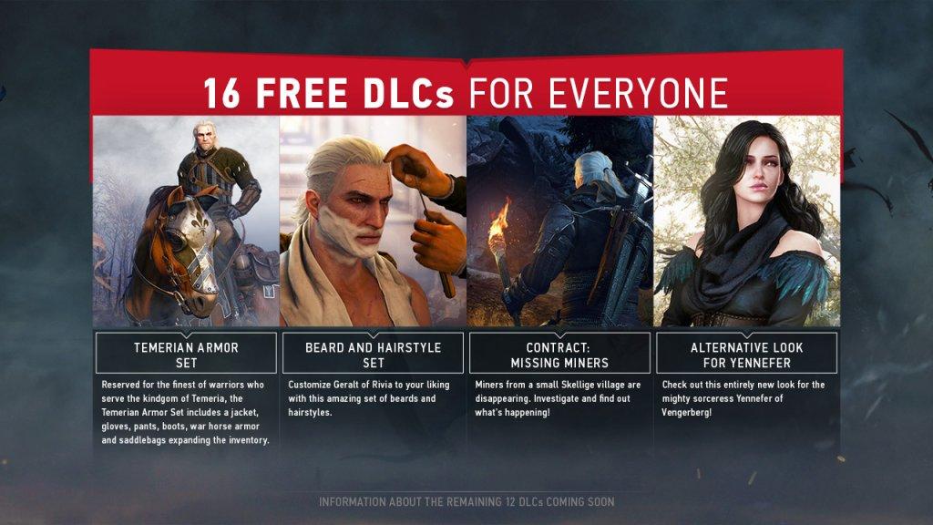 Darmowe DLC dla gry Wiedźmin 3: Dziki Gon