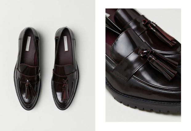 Skórzane mokasyny H&M wyprzedaż buty - 159,90 zł