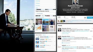 Oficjalny profil szefa MSZ na Twitterze