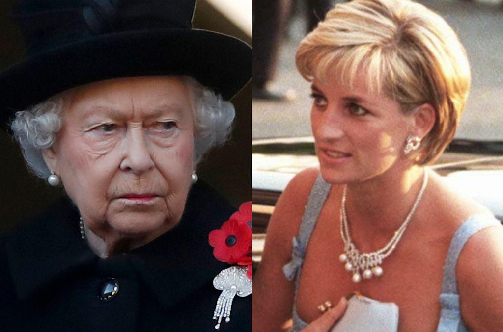 królowa Elżbieta II, księżna Diana