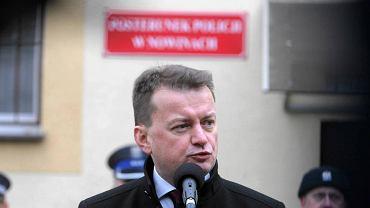 Nowiny, 18 stycznia 2017. Minister spraw wewnętrznych i administracji Mariusz Błaszczak na otwarciu komisariatu policji
