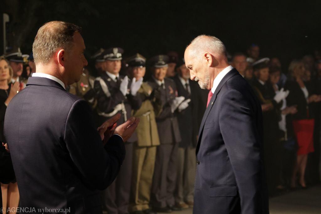Uroczystość w przeddzień Świeta Wojska Polskiego, 14.08.2017