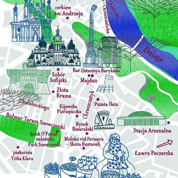 Mapa Kijowa