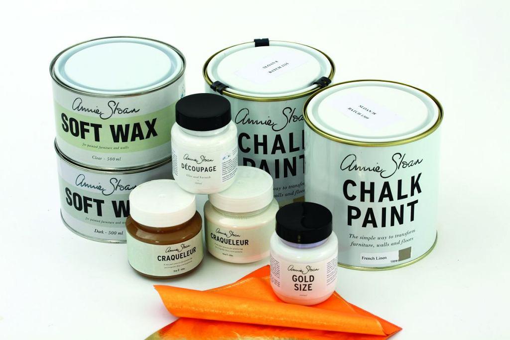 Przedmioty pomalowane farbami kredowymi Chalk Paint