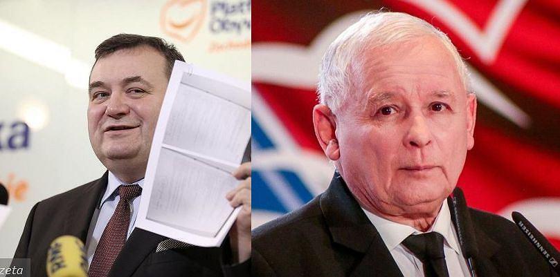 Stanisław Gawłowski i Jarosław Kaczyński