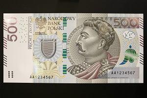 Banknot 500 zł już od 10 lutego. Ale nie tak łatwo będzie na niego trafić