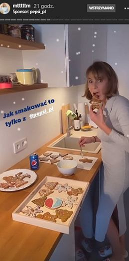 Marta Wierzbicka w kuchni