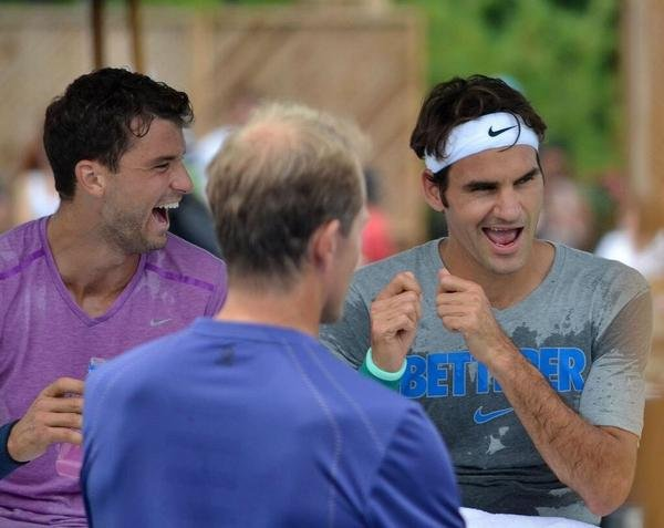 Dimitrow i Federer, Cincinnati 2014