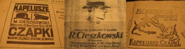 reklamy zakładu w przedwojennej prasie warszawskiej