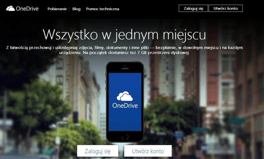 Rusza OneDrive, usługa która zastąpi SkyDrive