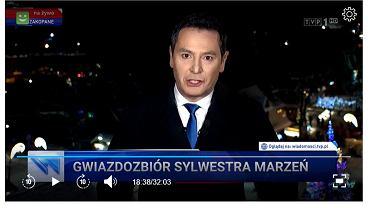 Ile czasu antenowego 'Wiadomości' poświęcają sylwestrowi?
