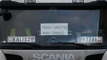 23.12.2020, polski kierowca w porcie w Dover.
