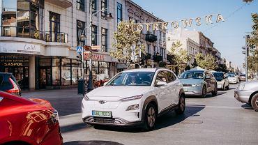 Zlot samochodów elektrycznych w Łodzi 2021