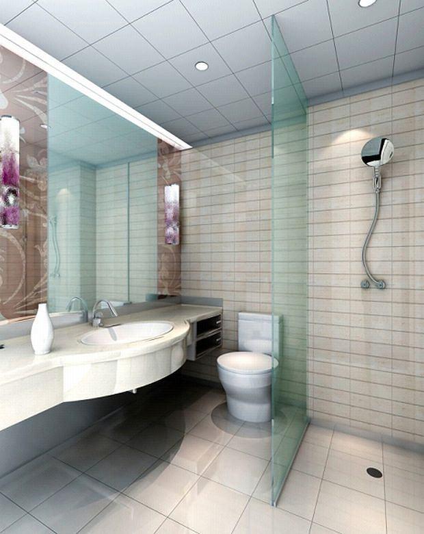 Szklana zabudowa prysznica.