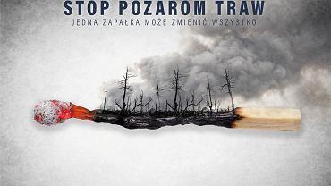 Stop Pożarom Traw. Kampania MSWiA i Straży Pożarnej ma ograniczyć liczbę wiosennych pożarów