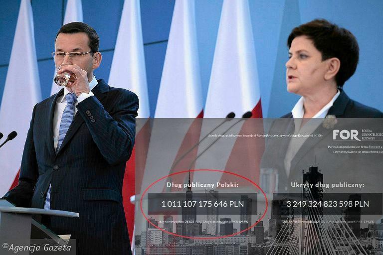 Według FOR, w ubiegłym roku polski dług publiczny sięgnął 1,007 bln zł