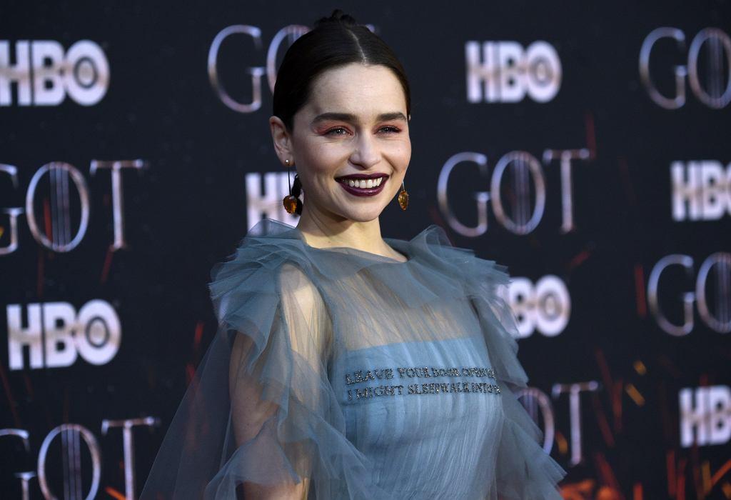 Gra o tron - premiera ósmej serii w Nowym Jorku. Na zdjęciu Emilia Clarke