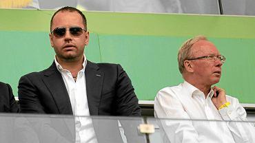 Prezes Legii Bogusław Lesnodorski i wojewoda mazowiecki Jacek Kozłowski