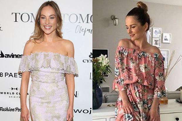 Kolaż, sukienka hiszpanka/Materiały partnera/WBF, www.instagram.com/paulinasykutjezyna/