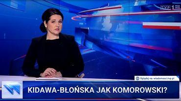 'Wiadomości' TVP uderzają w Małgorzatę Kidawę-Błońską