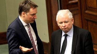 Zbigniew Ziobro oraz Jarosław Kaczyński