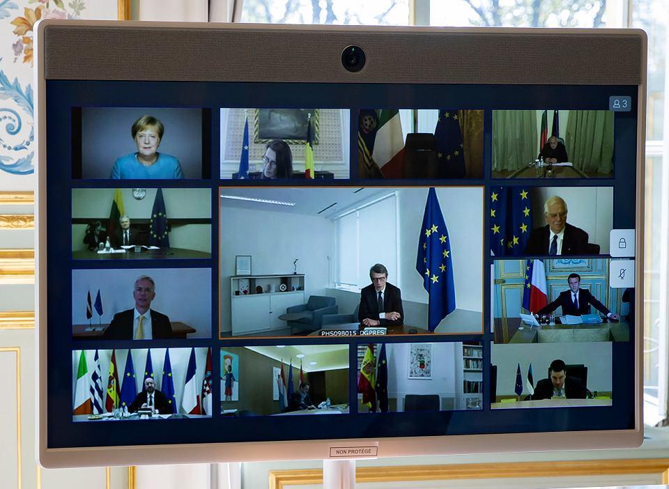 Unijny szczyt odbył się tym razem w trybie wideokonferencji