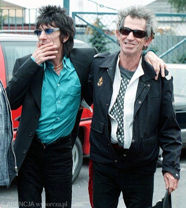 1998 rok - The Rolling Stones na lotnisku w Warszawie
