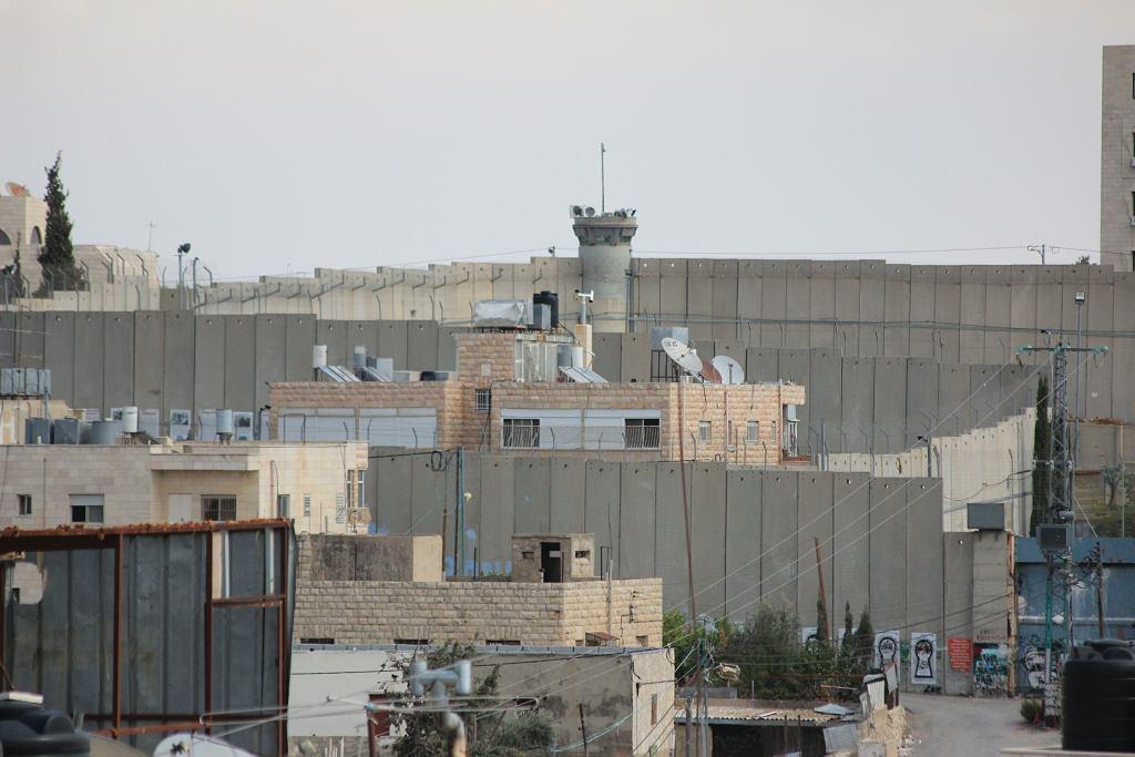 Mur separacyjny w okolicach Betlejem