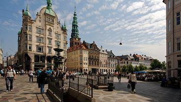 Deptak Stroeget w Kopenhadze, jedna z atrakcji turystycznych miasta