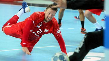 Kamil Syprzak podczas meczu Polska - Izrael