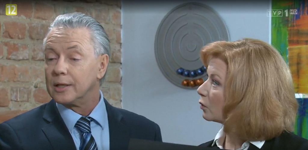 'Klan'. Widzowie dostrzegli antyrządowy symbol w gabinecie Igora Rutki.