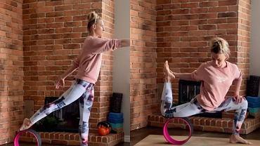 ćwiczenia z yoga wheel