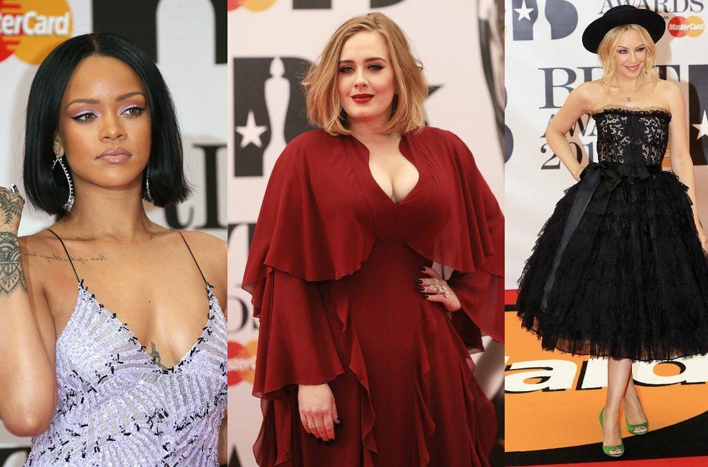 Na gali rozdania Brit Awards 2016 nie zabrakło największych światowych gwiazd. Pojawiły się m.in. Rihanna, Adele czy Kylie minogue, która z dumą prezentowała swój pierścionek zaręczynowy i... dużo młodszego narzeczonego! Zobaczcie w naszej galerii, kto pojawił się na imprezie!