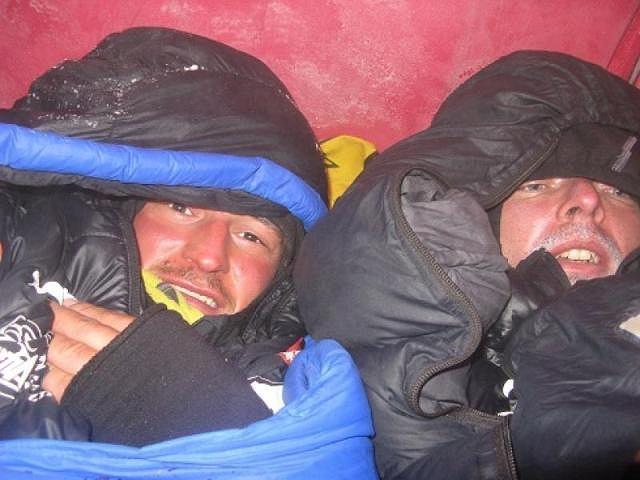 Adam Bielecki i Marcin Kaczkan w obozie II